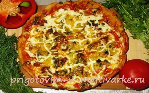 пицца в мультиварке с фото