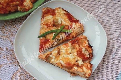 рецепт пиццы на сковороде