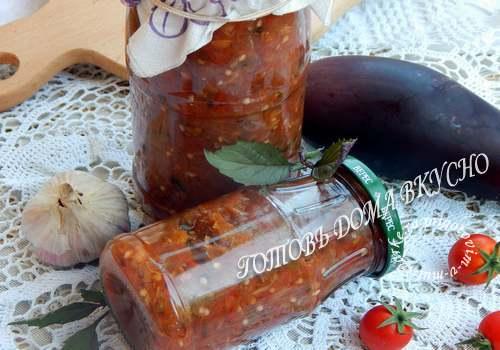 Соус из помидоров и баклажанов в мультиварке на зиму