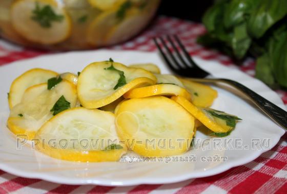 Быстрые маринованные кабачки рецепт с фото