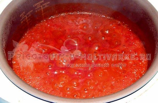 Варить кетчуп 10 минут