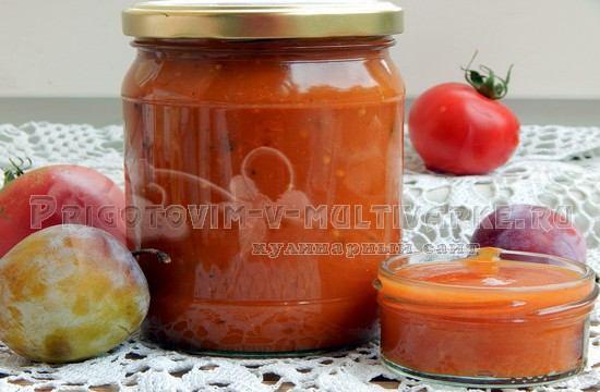 Кетчуп из слив на зиму, рецепт в мультиварке