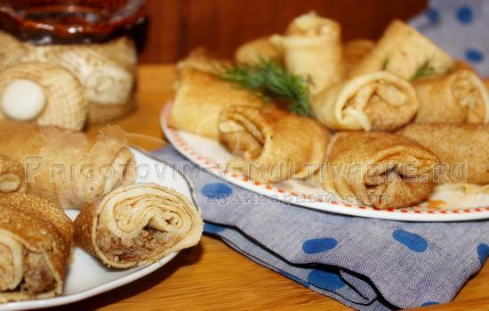 Картофельные блины с фаршем рецепт в домашних условиях