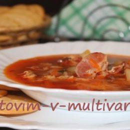 суп с беконом в мультиварке