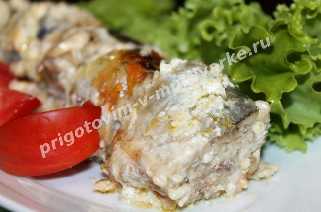 Скумбрия в мультиварке Поларис с овощами фото рецепт