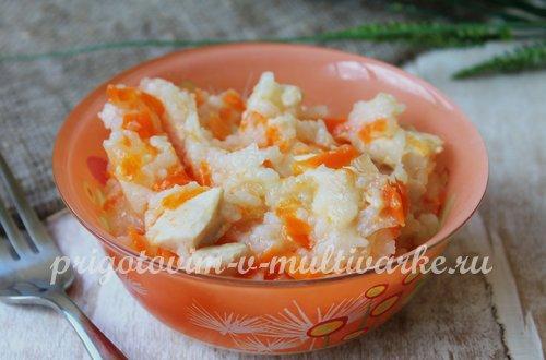 Рисовая каша с курицей в мультиварке: рецепт с фото