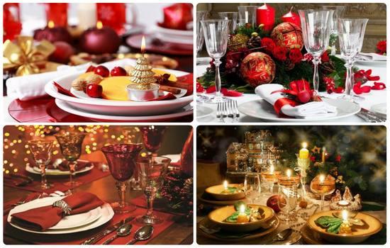 Как сервировать стол на Новый год 2017