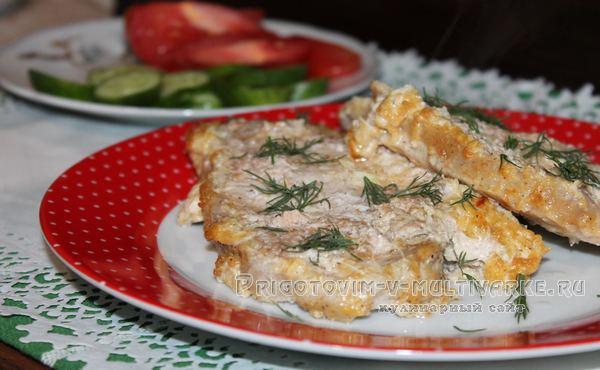 свинина с сыром