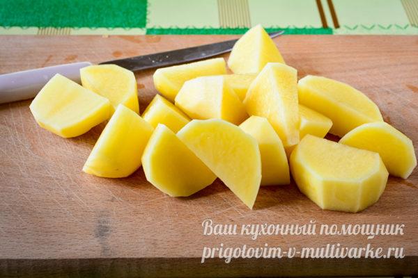 картошку кусочками