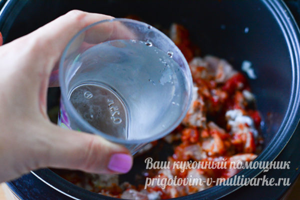 добавляем воды