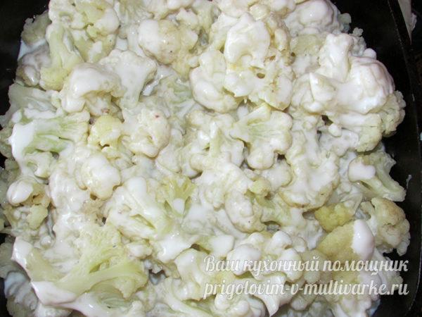 Заливка капусты смесью