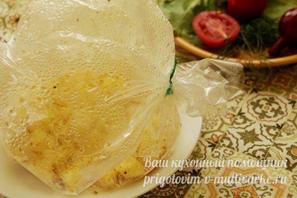 запеченная картошка в пакете