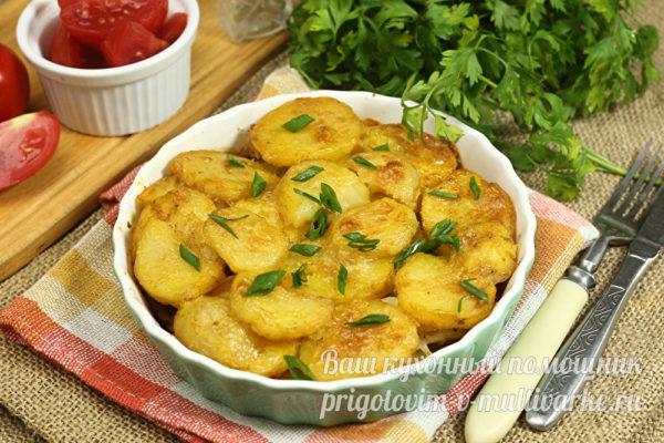Картошка с минтаем