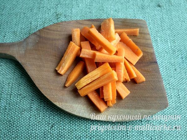 морковь брусочками
