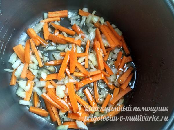 морковь и лук в мультварке
