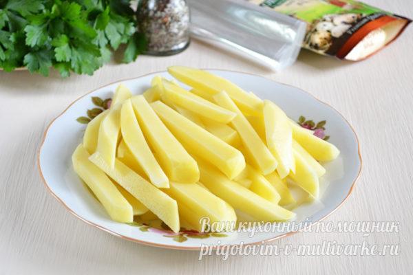Брусочки картофеля