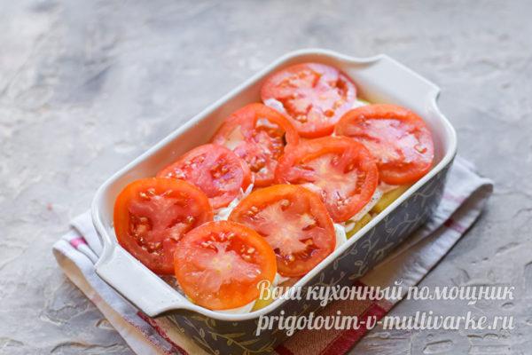 слой свежих помидор