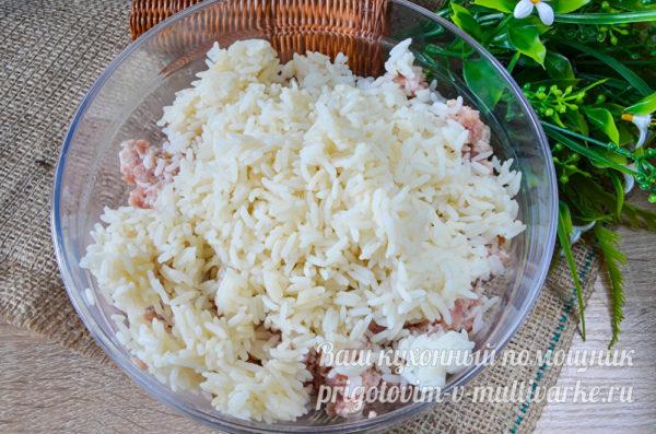 фарш с вареным рисом