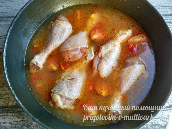 добавление голеней курицы