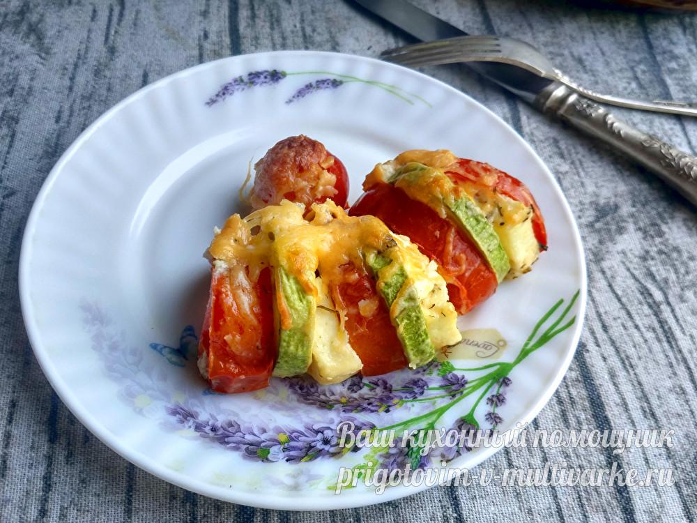 Запеканка из кабачков с помидорами