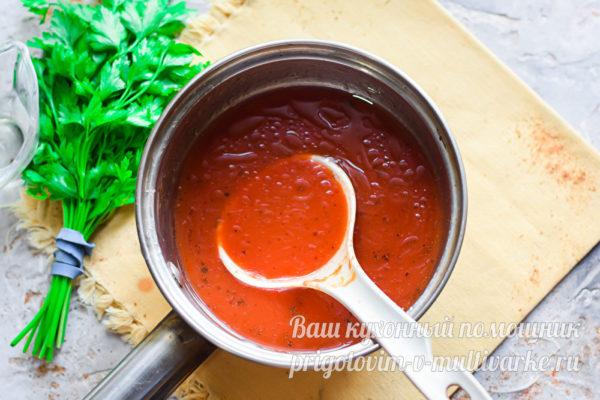 томатный соус проварить