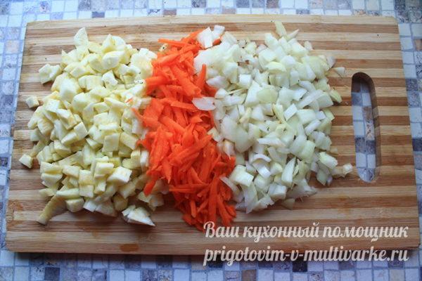 Измельчить овощи