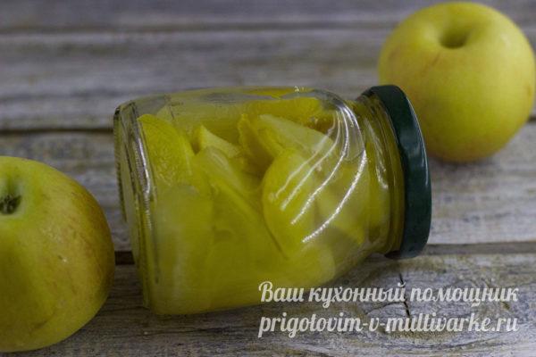 готовая заготовка на зиму из яблок