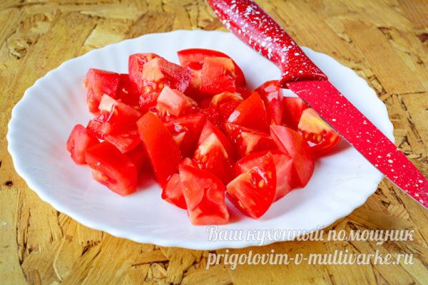 порежем помидоры