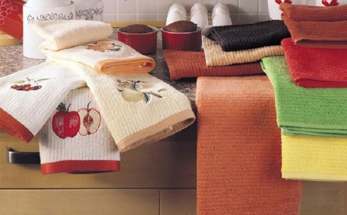 Как отбелить кухонные полотенца в домашних условиях, чем быстро отстирать пятна