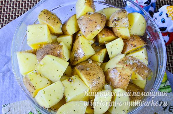 картофель с заправкой