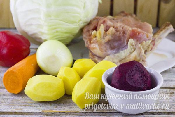 ингредиенты для борща