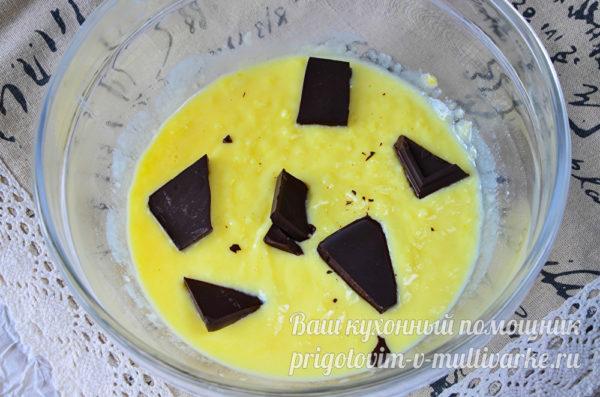 добавляем в крем шоколад