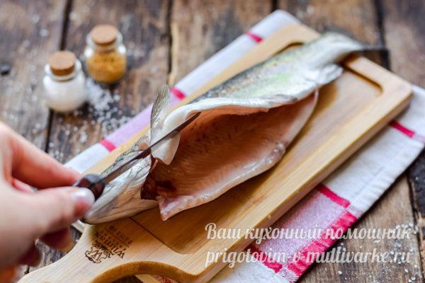 очищенная тушка рыбы