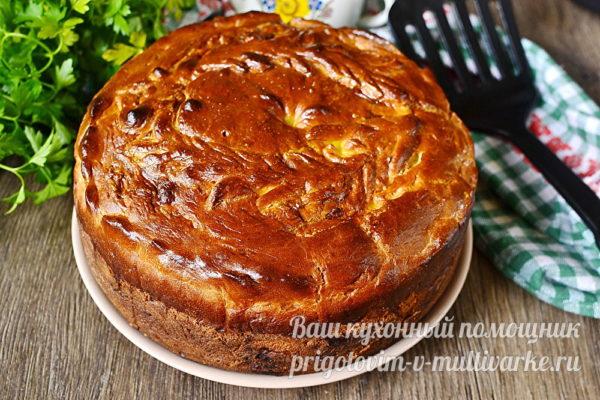 запеченный пирог с мясом