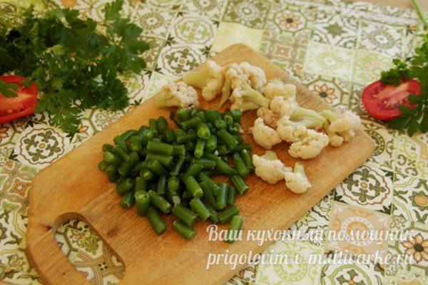 фасоль и капуста