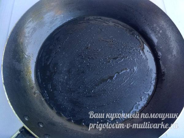 форма смазанная маслом