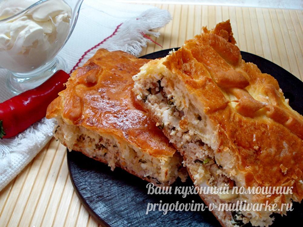 Пирог с мясной начинкой
