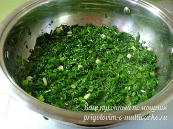 прогреваем зелень в масле