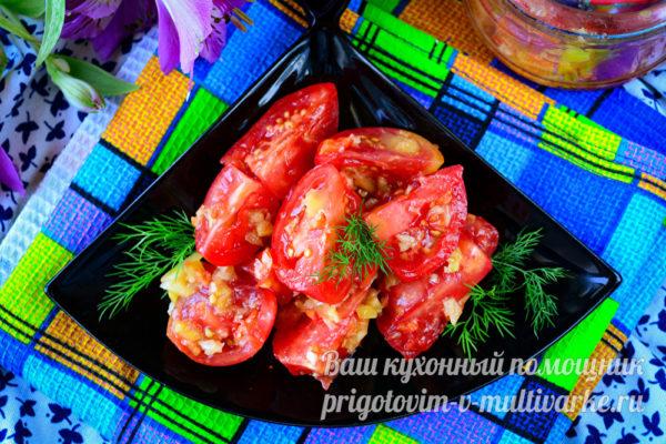 закуска по-корейски из томатов