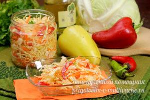 Капустный салат с овощами