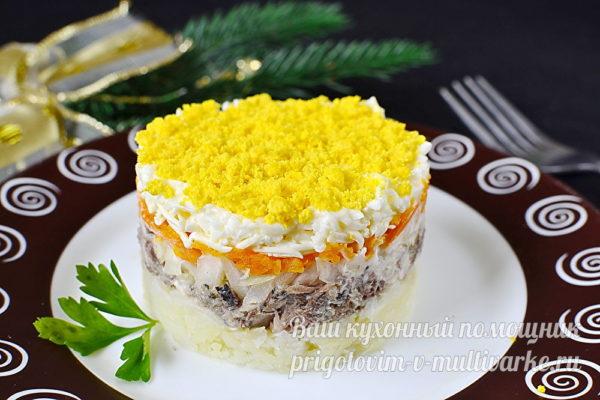 салат из сардин и картофеля