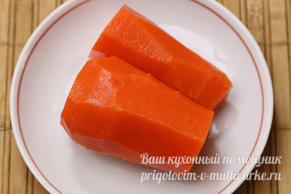 вареная морковь