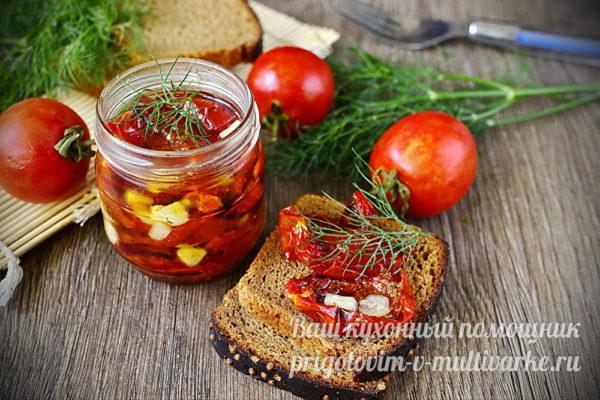 вкусные вяленые помидорки