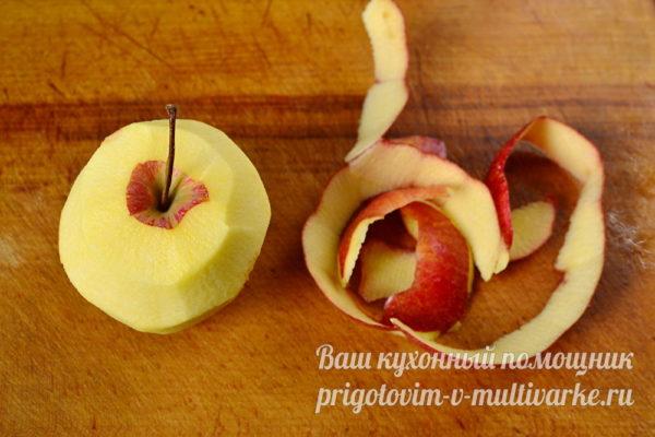 яблоко без кожуры