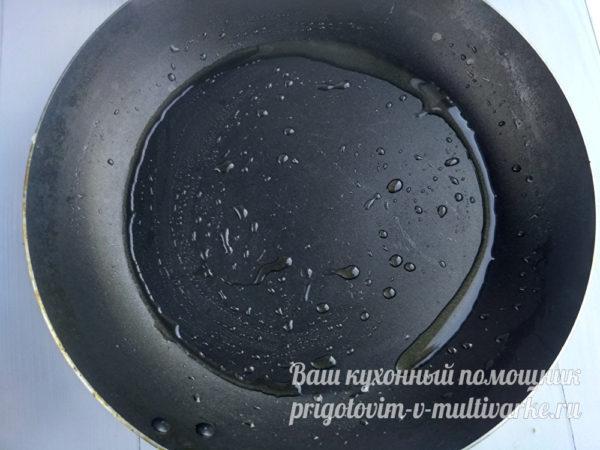 сковорода смазанная маслом