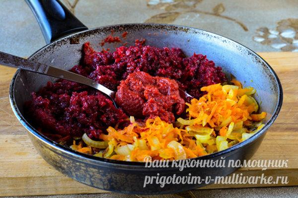 готовим зажарку из овощей