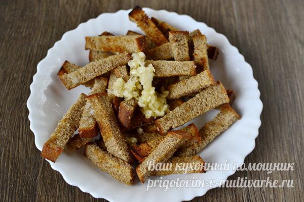 добавляем к хлебу чеснок