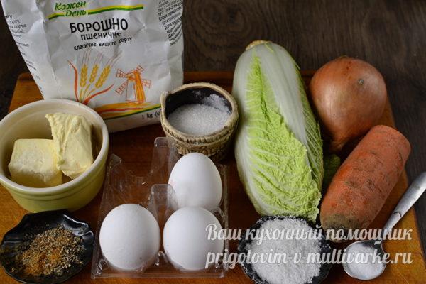ингредиенты для кулебяки