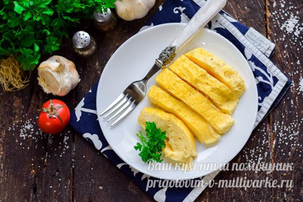 нежный омлет с сыром
