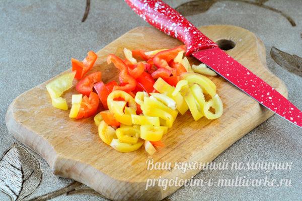 нарезаем сладкий перец